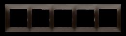 Ramka 5- krotna do puszek karton-gips brąz mat, metalizowany-251657