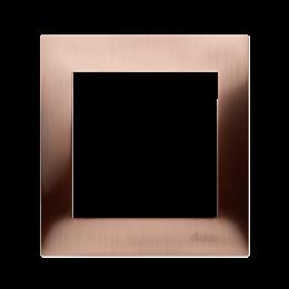 Ramka 1- krotna metalowa miedź rustykalna, metal-251583
