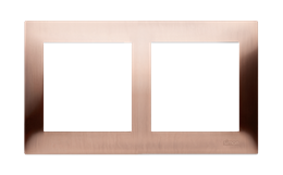 Ramka 2- krotna metalowa miedź rustykalna, metal-251595