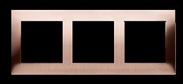 Ramka 3- krotna metalowa miedź rustykalna, metal-251614