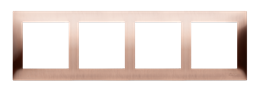 Ramka 4- krotna metalowa miedź rustykalna, metal-251633