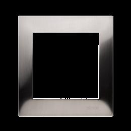 Ramka 1- krotna metalowa inox, metal-251584