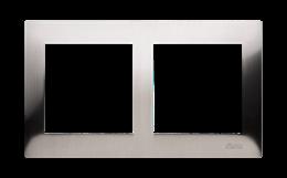 Ramka 2- krotna metalowa inox, metal-251596