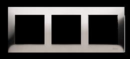 Ramka 3- krotna metalowa inox, metal-251615