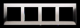Ramka 4- krotna metalowa inox, metal-251634