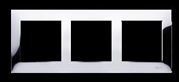 Ramka 3- krotna metalowa chrom, metal-251616