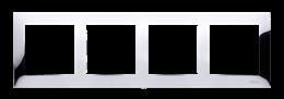 Ramka 4- krotna metalowa chrom, metal-251635