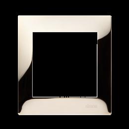 Ramka 1- krotna metalowa złoto, metal-251586