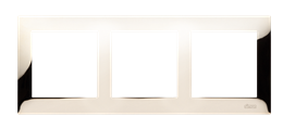 Ramka 3- krotna metalowa złoto, metal-251617
