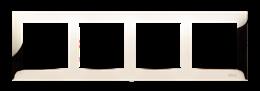 Ramka 4- krotna metalowa złoto, metal-251636