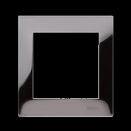 Ramka 1- krotna metalowa ciemna stal, metal-251587