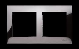 Ramka 2- krotna metalowa ciemna stal, metal-251599