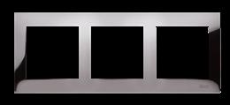Ramka 3- krotna metalowa ciemna stal, metal-251618