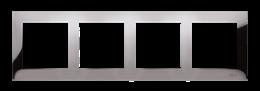Ramka 4- krotna metalowa ciemna stal, metal-251637