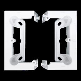 Puszka natynkowa składana, pojedyncza biały-251668