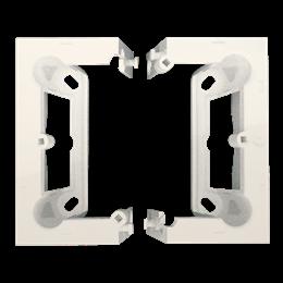 Puszka natynkowa składana, pojedyncza kremowy-251669