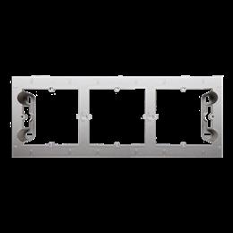 Puszka natynkowa 3-krotna srebrny mat, metalizowany-251700