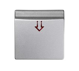 Pokrywa łącznika hotelowego aluminium mat, metalizowany-251113