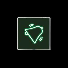 """Klawisz świeciący z filtrem - piktogram """"dzwonek"""" czarny-251078"""