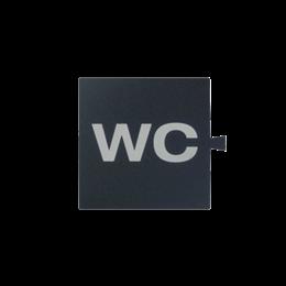 Filtr do klawisza świecącego tło grafit - piktogram WC-251062