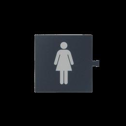 Filtr do klawisza świecącego tło grafit - piktogram Kobieta biały-251064