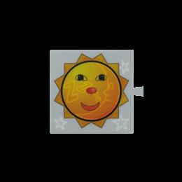 Filtr do klawisza świecącego tło białe - piktogram Słońce / Księżyc-251067