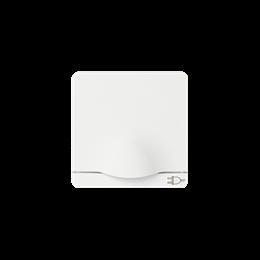 Pokrywa z klapką do gniazda wtyczkowego Schuko biały-251258