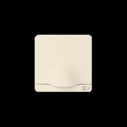Pokrywa z klapką do gniazda wtyczkowego Schuko beżowy-251259