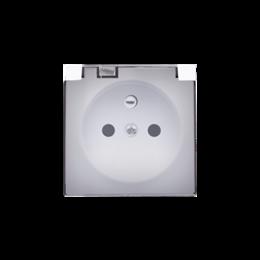 Pokrywa do gniazda wtyczkowego z uziemieniem - do wersji IP44- klapka w kolorze transparentnym biały-251241