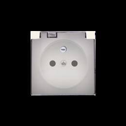 Pokrywa do gniazda wtyczkowego z uziemieniem - do wersji IP44- klapka w kolorze transparentnym beżowy-251242