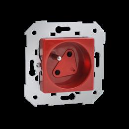 Gniazdo wtyczkowe pojedyncze DATA z kluczem uprawniającym czerwony 16A-251237