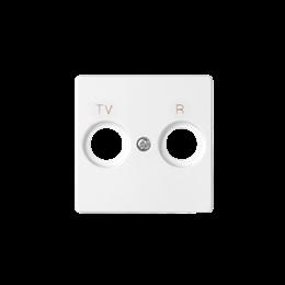 Pokrywa do gniazda antenowego R-TV-SAT WYCOFANY Z OFERTY - Dostępny do wyczerpania zapasów magazynowych, biały-251296