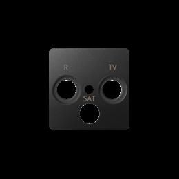 Pokrywa do gniazda antenowego R-TV-SAT grafit-251279