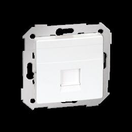 Pokrywa gniazd teleinformatycznych na Keystone płaska pojedyncza biały-251303