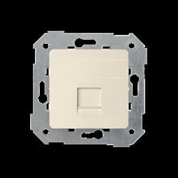 Pokrywa gniazd teleinformatycznych na Keystone płaska pojedyncza beżowy-251304