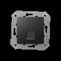 Pokrywa gniazd teleinformatycznych na Keystone płaska pojedyncza grafit-251305