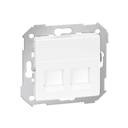 Pokrywa gniazd teleinformatycznych na Keystone płaska podwójna biały-251306