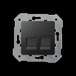 Pokrywa gniazd teleinformatycznych na Keystone płaska podwójna grafit-251308