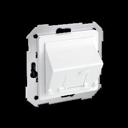 Pokrywa gniazd teleinformatycznych na Keystone skośna pojedyncza biały-251312