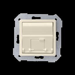 Pokrywa gniazd teleinformatycznych na Keystone skośna pojedyncza beżowy-251313