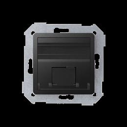 Pokrywa gniazd teleinformatycznych na Keystone skośna pojedyncza grafit-251314