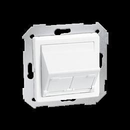 Pokrywa gniazd teleinformatycznych na Keystone skośna pojedyncza lub podwójna biały-251309