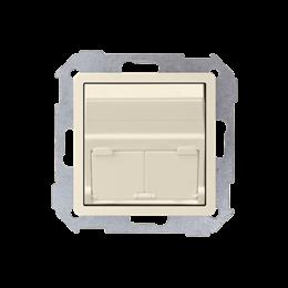 Pokrywa gniazd teleinformatycznych na Keystone skośna pojedyncza lub podwójna beżowy-251310