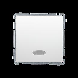 Łącznik jednobiegunowy z podświetleniem LED nie wymienialny kolor: niebieski (moduł) 10AX 250V, szybkozłącza, biały-253403