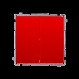 Łącznik świecznikowy (moduł) 10AX 250V, szybkozłącza, czerwony-253422