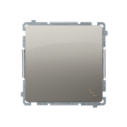Łącznik schodowy (moduł) 10AX 250V, szybkozłącza, satynowy, metalizowany-253466