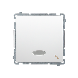 Łącznik schodowy z podświetleniem LED nie wymienialny kolor: niebieski (moduł) 10AX 250V, szybkozłącza, biały-253488