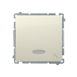 Łącznik schodowy z podświetleniem LED nie wymienialny kolor: niebieski (moduł) 10AX 250V, szybkozłącza, beżowy-253489