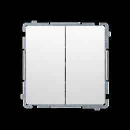 Łącznik schodowy podwójny z podświetleniem LED nie wymienialny kolor: niebieski (moduł) 10AX 230V, zaciski śrubowe, biały-253520