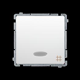 Łącznik krzyżowy z podświetleniem LED nie wymienialny kolor: niebieski (moduł) 10AX 250V, szybkozłącza, biały-253545